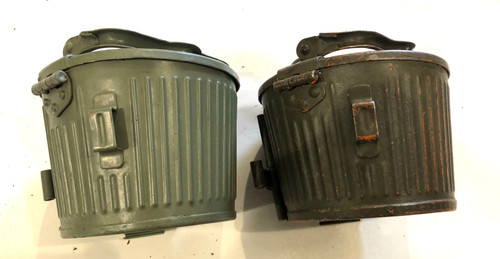 "Lot of 2 ""bxt""  WW2 Marked MG34/42 Basket Drums"