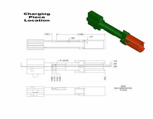 MG42 Bolt Charging Piece