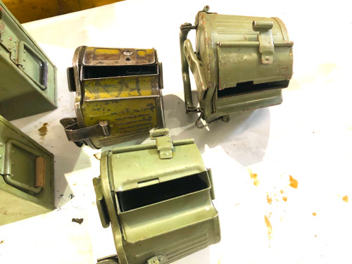 Lot of 2 Yugo 8mm Ammo Cans and 3 Basket Drums  - 200919-03