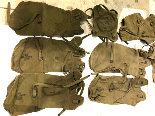 US WW2 Mortar Canvas Cover Lot