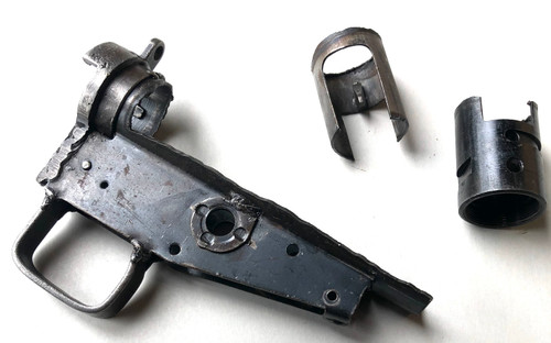 Early Wrapped MkII Cut Receiver Parts: Fire Control Housing, Ejector, and Barrel Bushing