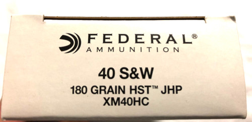 500rds of FEDERAL 40 S&W 180GR HST JHP Ammunition - XM40HC  $0.80 Per Round (free ship in lower 48)