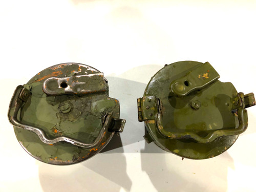 Lot of 2  WW2 Marked MG34/42 Basket Drums (HQU 44 & WC43)
