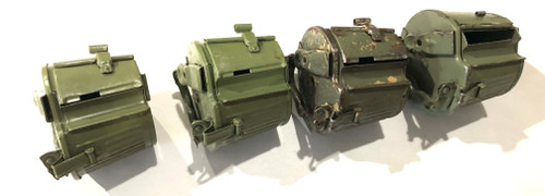 Lot of 4 HQU Marked MG34/42 Basket Drums 1941-1944 (Yugo repainted)