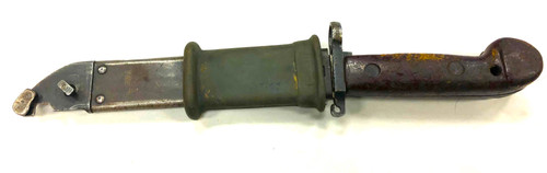 Romanian AK-47 Bayonet and Scabbard With Rubber Insulator - Fair to Good Condition