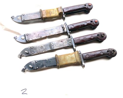 Lot 2:  4 x Low Grade Romanian AK-47 AKM Bayonets
