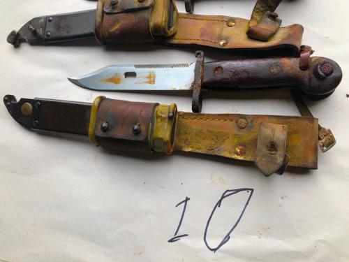 Lot 10:  4 x Low Grade Romanian AK-47 AKM Bayonets