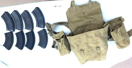 Lot of Original Pattern 37 Canadian Web Gear with 8 BREN Mags