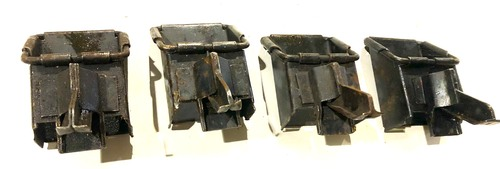 Lot of 4 Low Grade M2HB Link Chutes - Angled Square Type