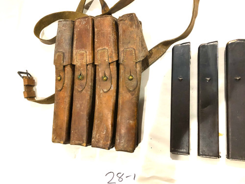 Lot 1: 4 x MP34 Magazines with Yugo M49 Mag Pouch