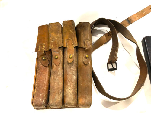 Lot 6: 4 x MP34 Magazines with Yugo M49 Mag Pouch