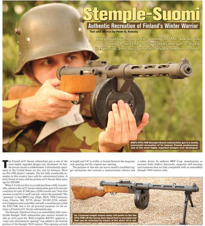 STG76W Stemple Suomi Features
