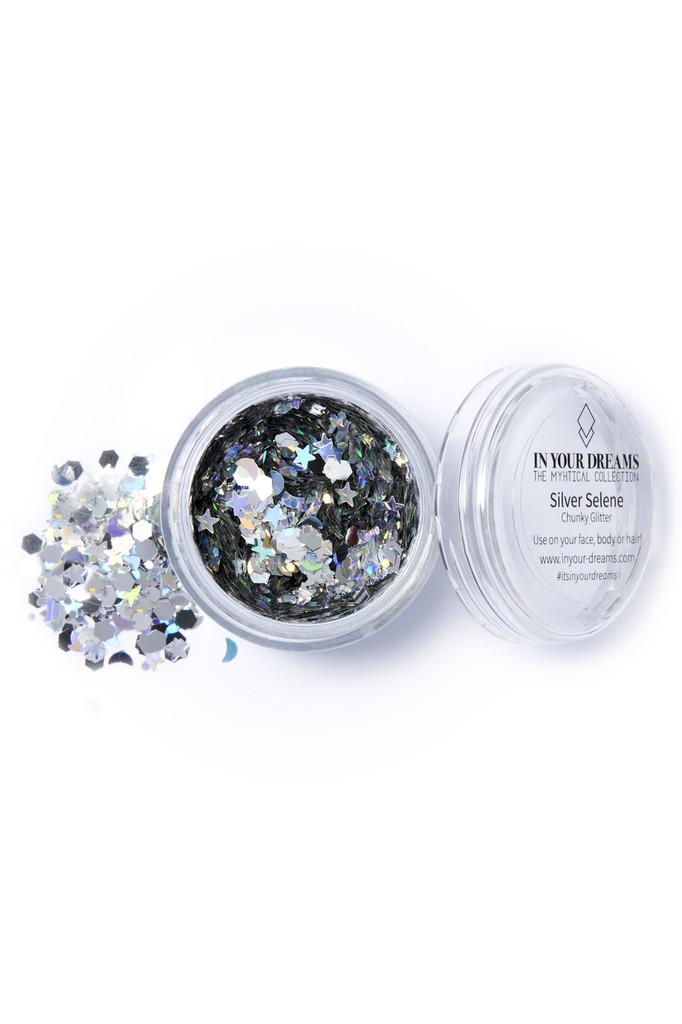 Silver Selene, Chunky Glitter