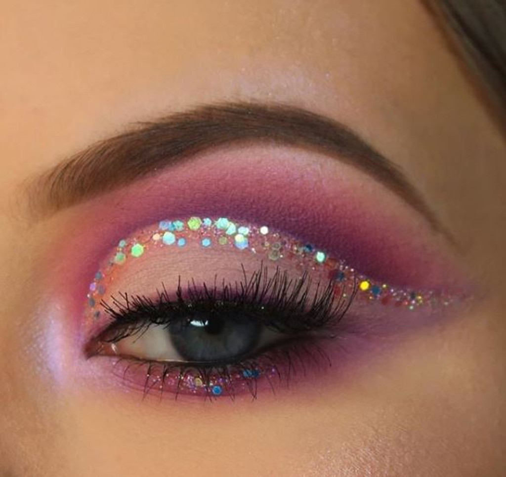 Purple Unicorn, Chunky Glitter