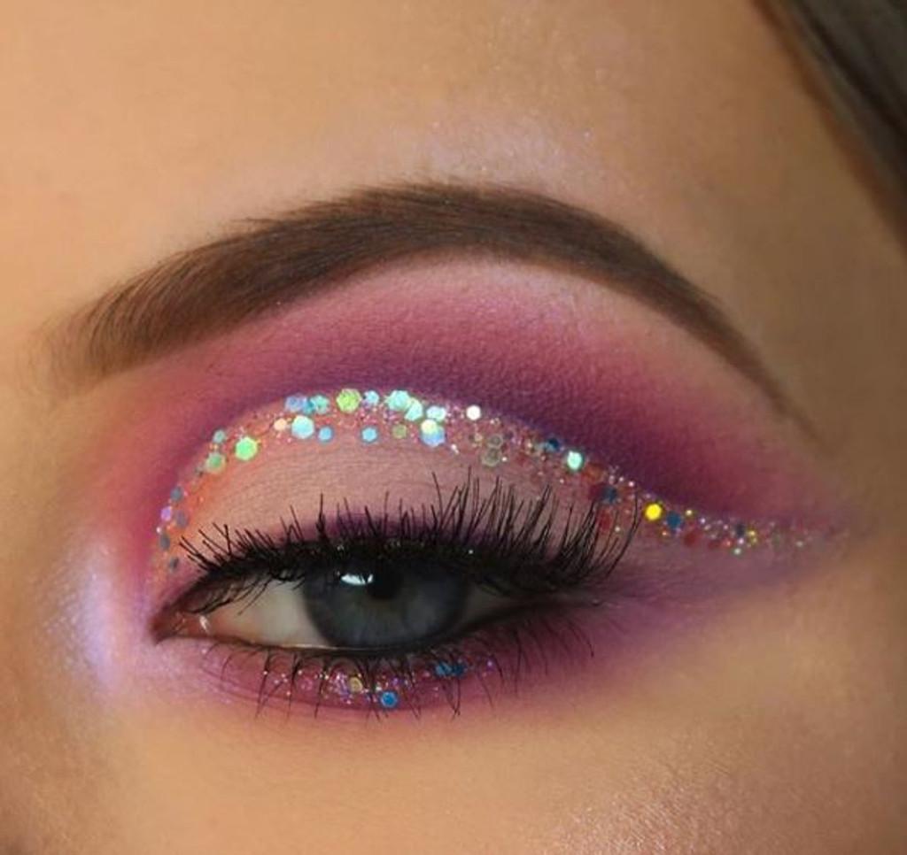 Purple Unicorn, Chunky Glitter