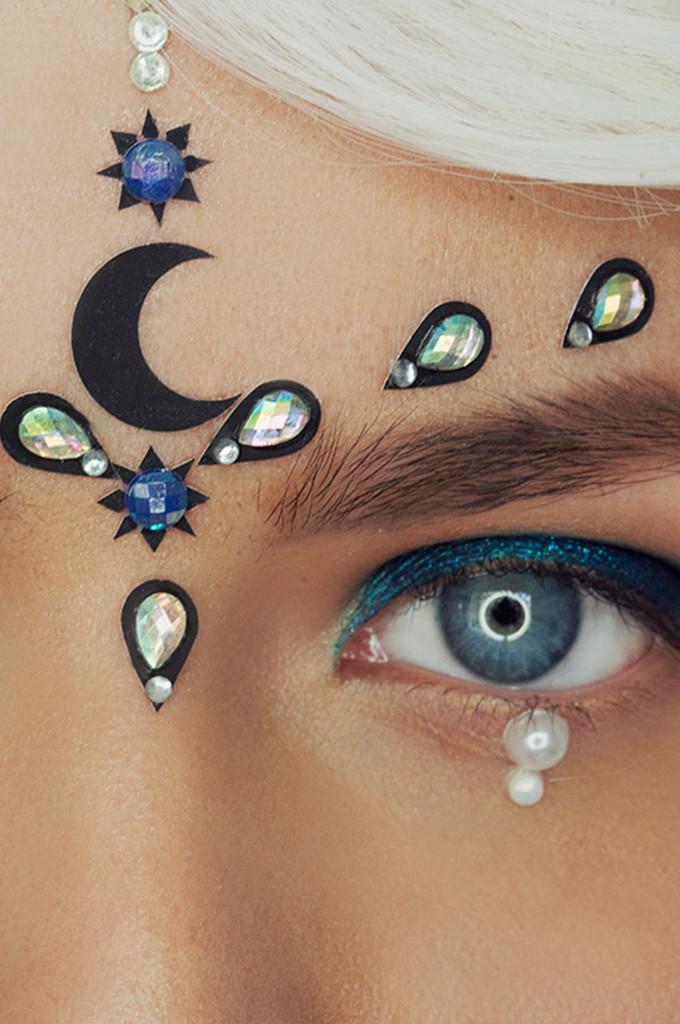 Midnight Moon Face Gems