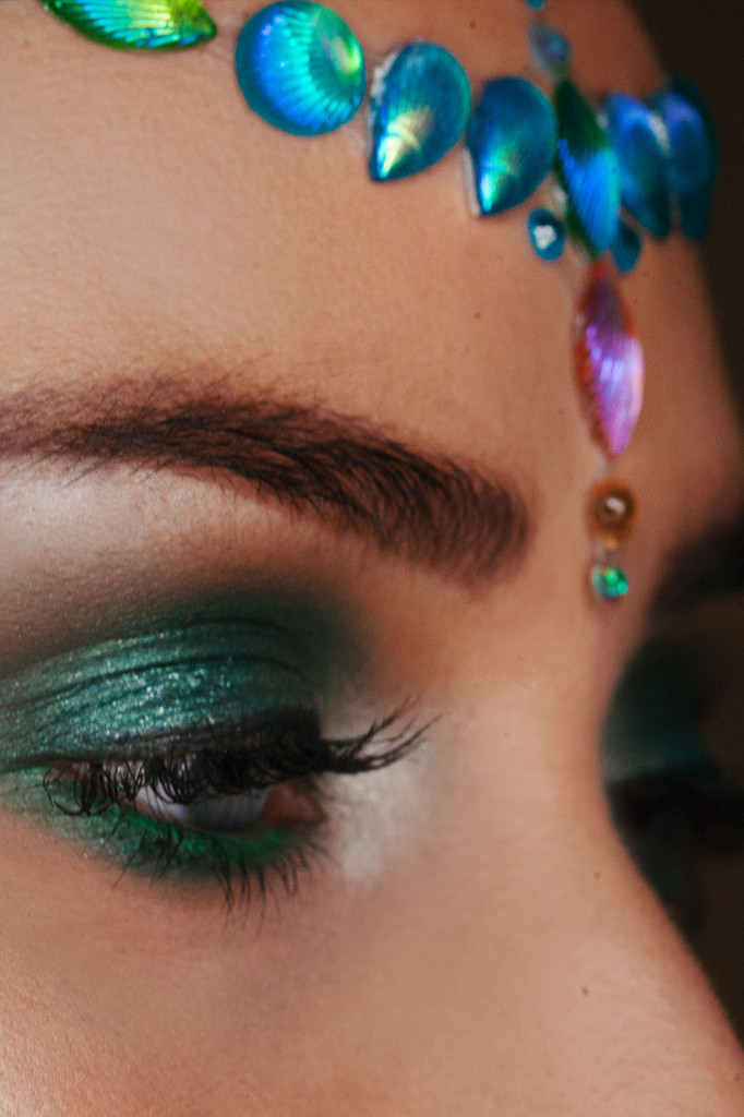 Blue Ariel, Shell Jewelled Headpiece