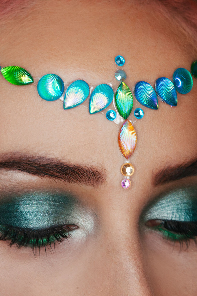 Blue Ariel | Jewelled Headpiece | Face Gems | All In One Face Jewels