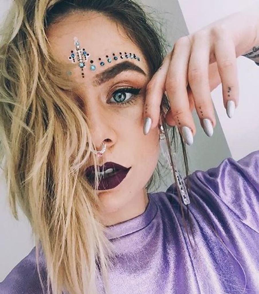 Blue Lorelei Face Jewels