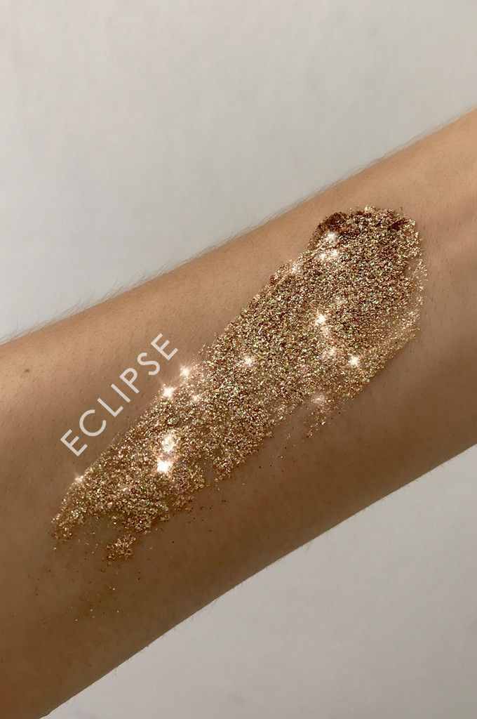 Eclipse, Pressed Glitter Balm, Gold