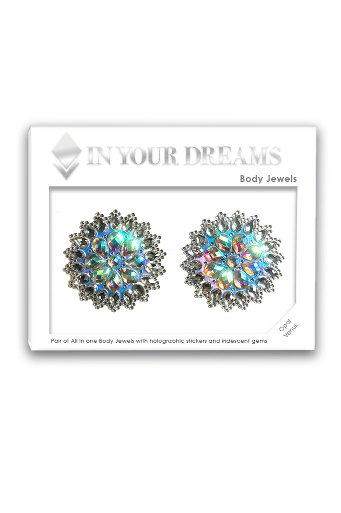 Opal Venus | All in One Body Jewels & Holographic Sticker | Packaging