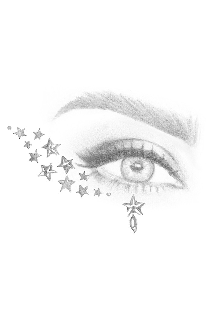 Gold Astra | All in One Face Gems & Eye Jewels | Sketch Eye