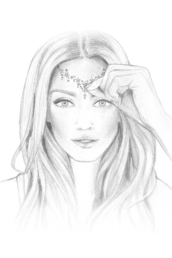 Gold Astra | All in One Face Gems & Eye Jewels | Sketch