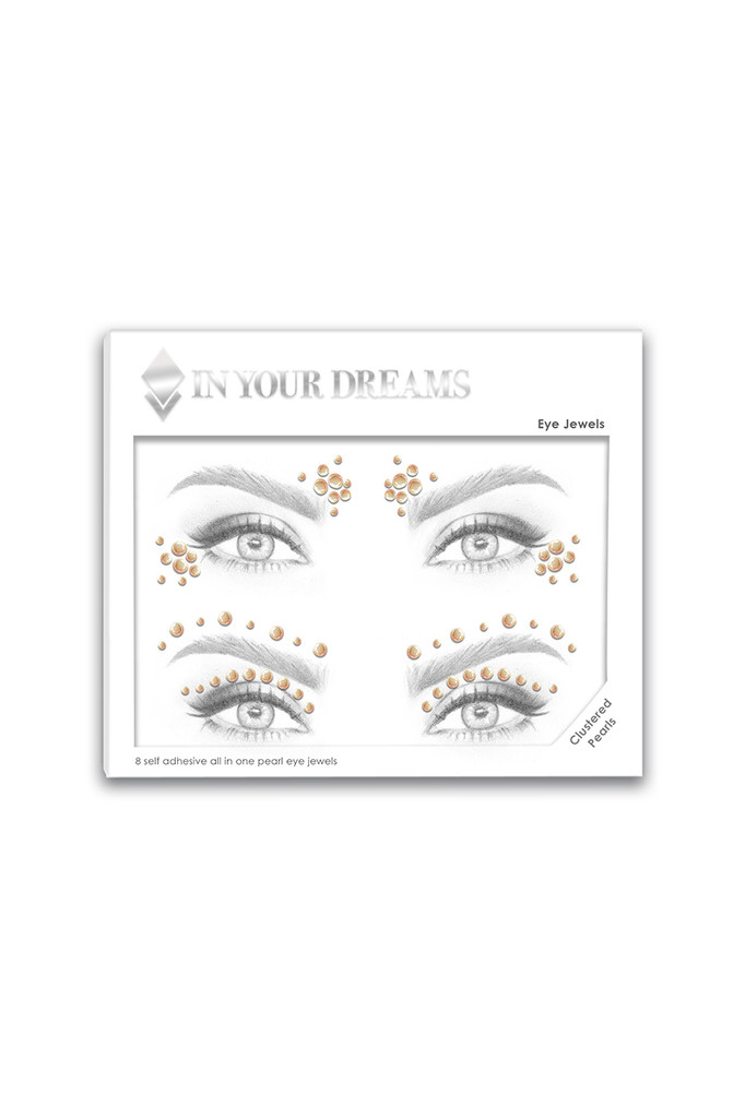 Clustered Natural Pearls Face Gems