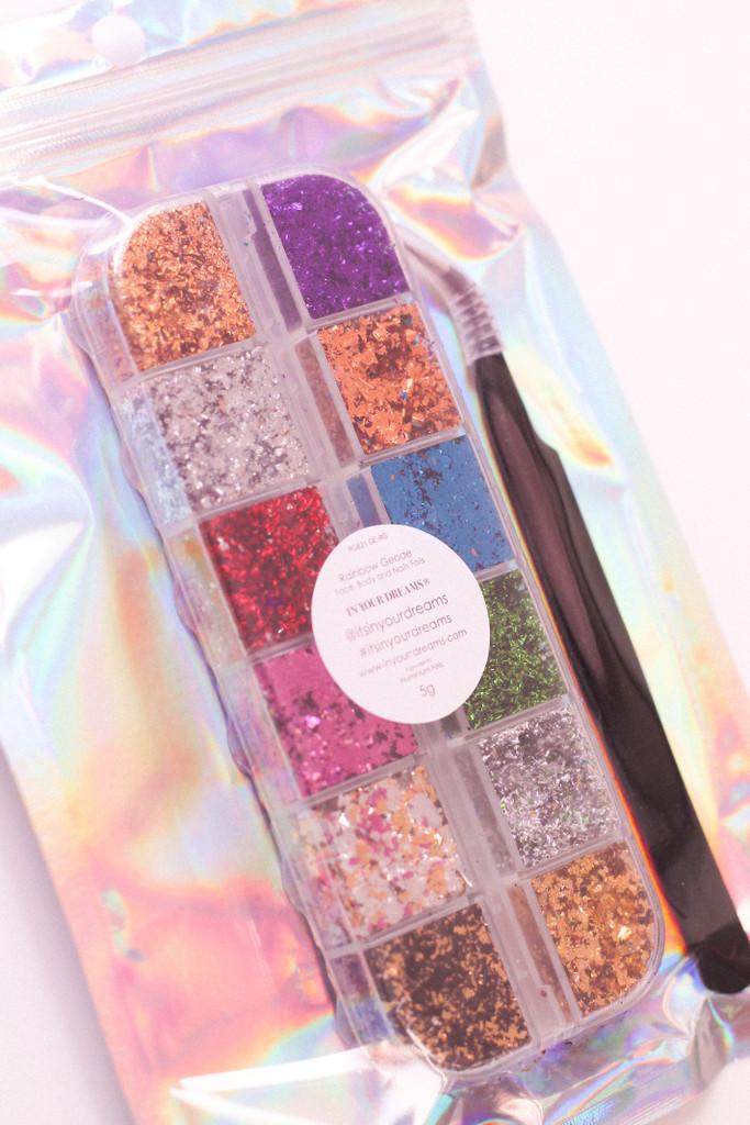 Rainbow Geode Face, Body & Nail Foils