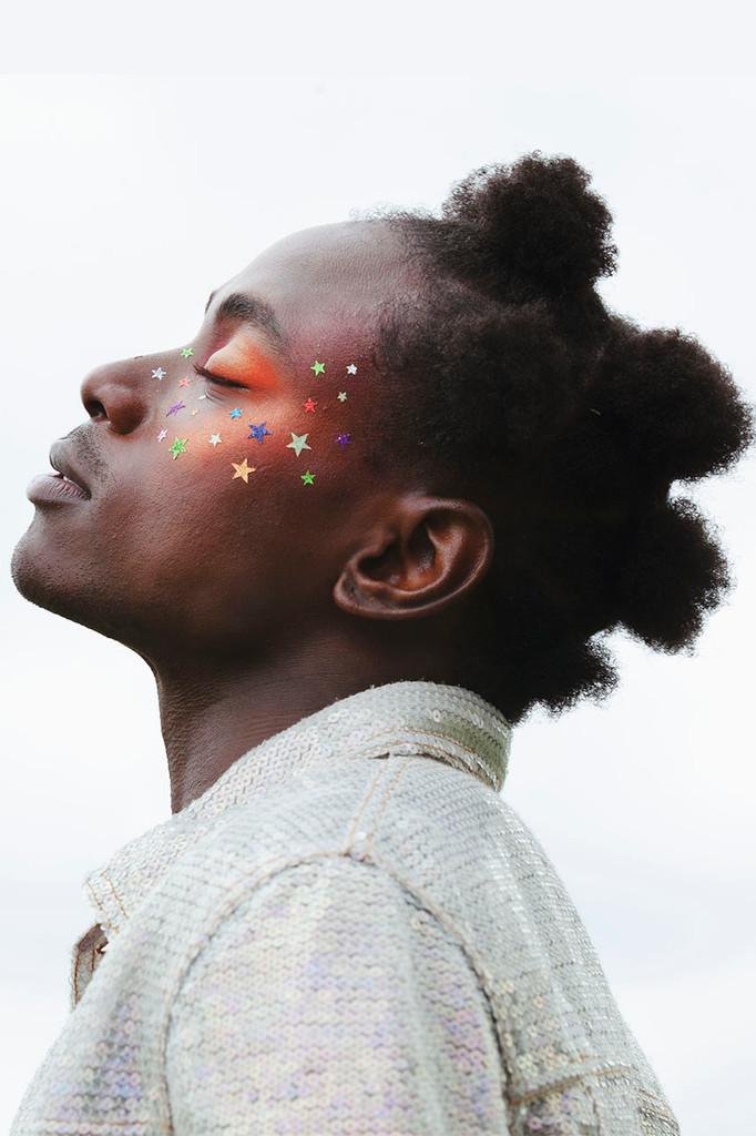 Spectrum Stars, Glitter Face Stickers