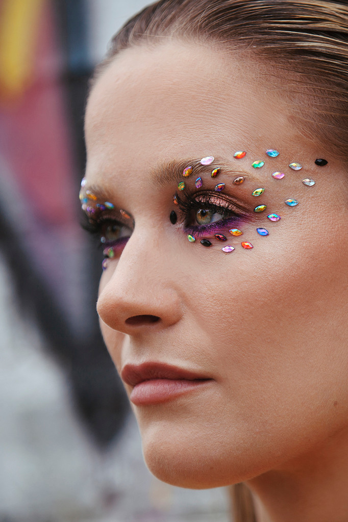 Rainbow Peacock, Loose Iridescent Gem Box, Face, body and Nail Jewels