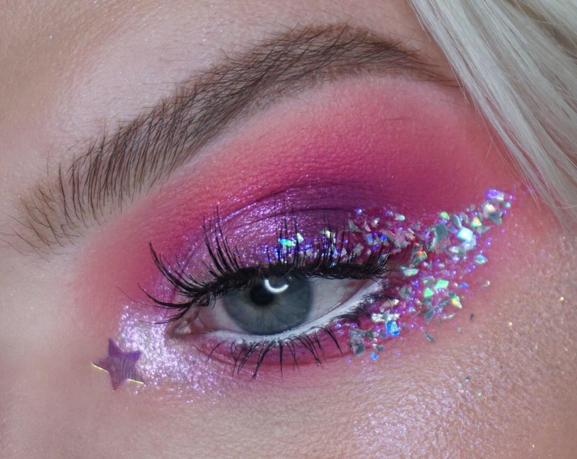 Glitter Makeup looks for Christmas