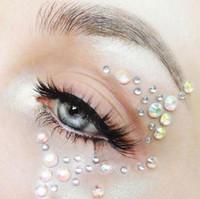 Iridescent Waterfall Face Jewel Set, face gems