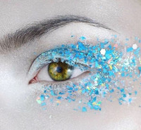 Blue Frosted Fairy Chunky Glitter