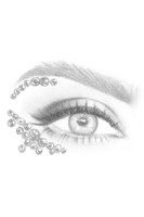 Gold Alya | All In One Face Jewels | Face Gems | Sketch Eye