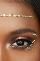 Gold Alya | All In One Face Jewels | Face Gems |