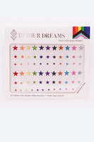 Spectrum Stars, Glitter Face Sticker