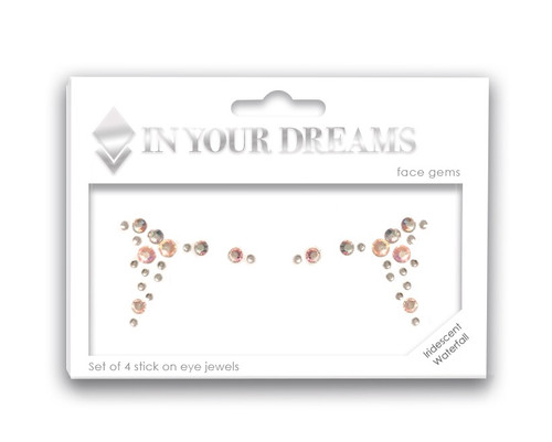 Iridescent Waterfall Face Jewel Set, face gems