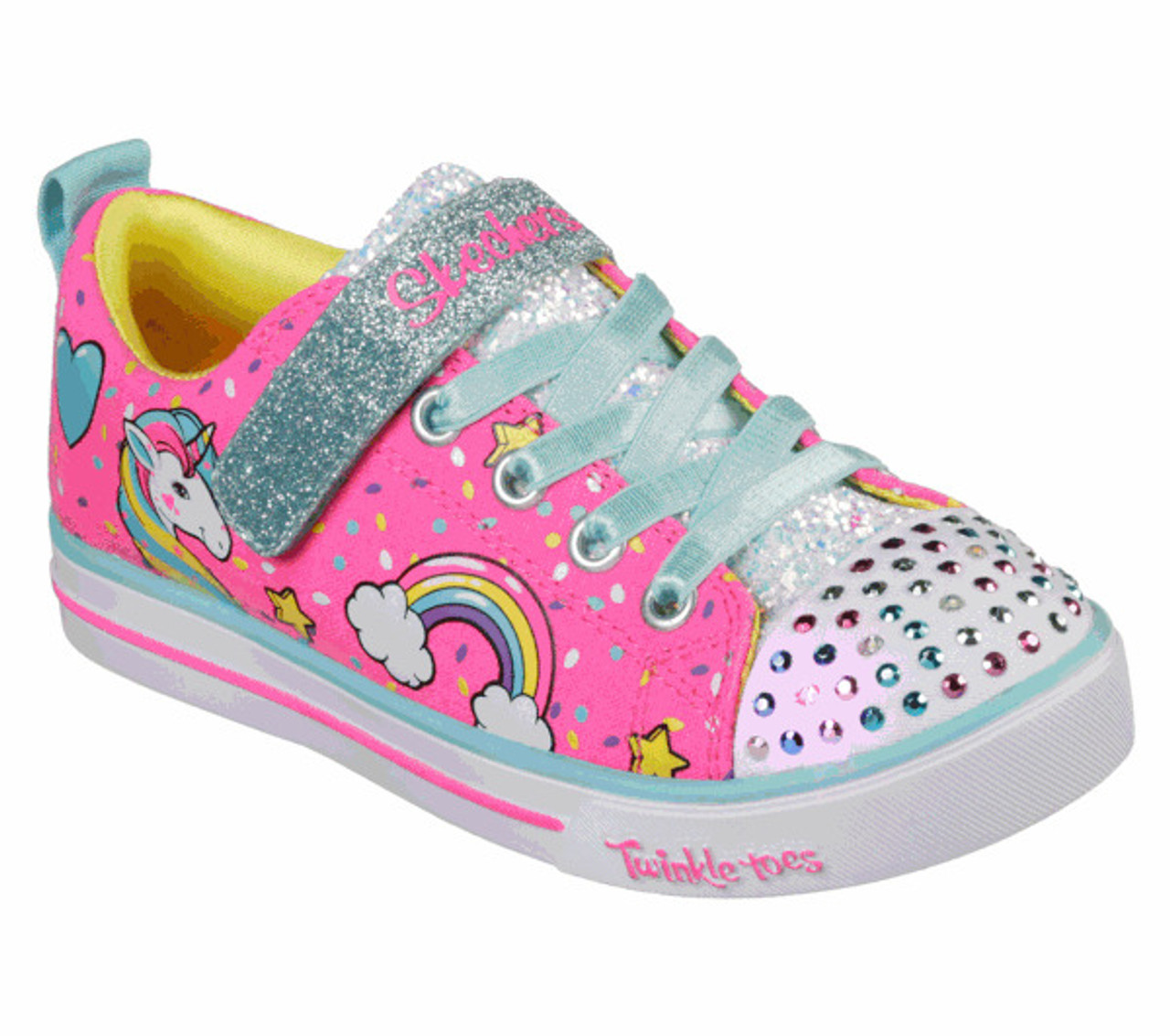 pianista Superficial tratar con  Skechers Twinkle Toes Unicorn Craze toddler Light Ups - Kids Got Sole