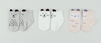 Kids Clara Animal Drawing Socks 3 Colours