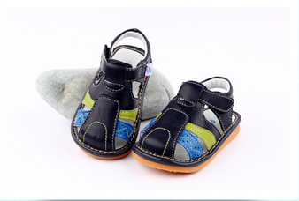 "Pre Order Freycoo ""Seth"" Navy Leather Sandals"
