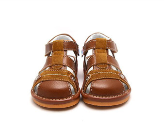 "Freycoo ""Morgan"" Tan Leather Sandals"