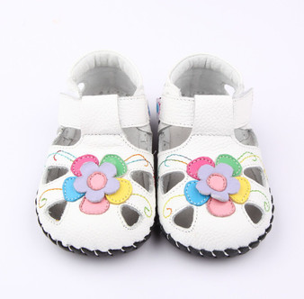 "Pre Order Freycoo ""Sweet"" White Soft Sole Leather Sandal"