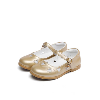"Snoffy ""Diamonte"" Gold Leather Shoes"