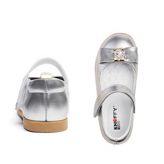 """Snoffy """"Sky"""" Silver Leather Shoes"""