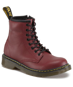 Dr Martens Delaney 1460 Softy T Cherry Leather Boots