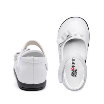 "Snoffy ""Brooke"" White Leather Shoes"