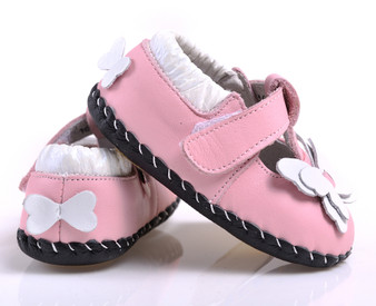 "Caroch ""Soar"" Pink Leather Soft Sole Shoes"