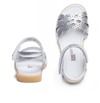 "Snoffy ""Eden"" Silver Leather Sandals Aus 2 only"
