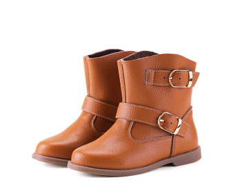 "Snoffy ""Pip"" Caramel Leather Boots Aus 10 & 10.5 only"